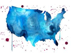 How To Turn A Map Into A Watercolor Super Easy Shopcovet - Watercolor us map