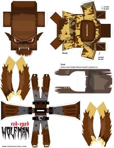 Blog_Paper_Toy_papertoy_Red_Eyed_Wolfman_template_preview