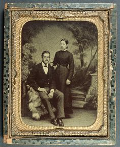 'Crazy' 1/4 plate tintype (framed) - ca 1870s