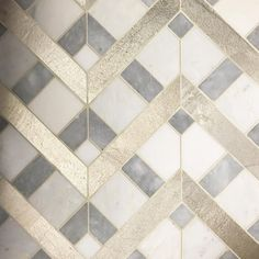 "238 Likes, 4 Comments - Tabarka Studio (@tabarkastudio) on Instagram: ""Silver linings. Marble and silver leaf mosaic #tabarkastudio #mosaic #marble #silverleaf #wall…"""