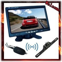 "62.43$  Buy now - http://aliu2o.worldwells.pw/go.php?t=2031515238 - "" 7"""" color tft lcd car rearview monitor+Wireless Rear View Camera Night Vision Car Reverse Backup Cam kit,Free Shipping"" 62.43$"