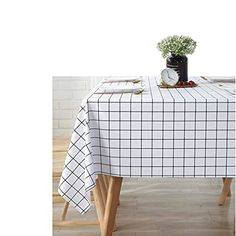 """Amazon has the GDFG Checkered Tablecloth,Stain Resistant Oil-Proof Wrinkle Resistant100% Waterproof PVC Rectangle Tablecloth Washable Plastic Table Cloth,54 X 71 Inch, for Dining Room,Banquets,Picnic (2Pack) marked down from to $25.12 to $6.28. That is $18.84 off retail price! TO GET THIS DEAL: GO HERE to go to the product page and click on """"Add to…"""