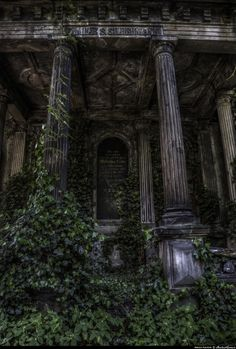 'Riddle' Behind the ivy veil. Destroyed and Abandoned : Photo Abandoned Mansions, Abandoned Buildings, Abandoned Places, Beautiful Architecture, Beautiful Buildings, Beautiful Places, Green Architecture, Dark Green Aesthetic, Nature Aesthetic