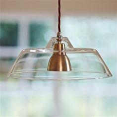 Lynfield Glass Pendant Light in Antiqued Brass
