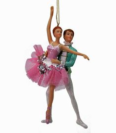"Katherine's Collection Pirouette Christmas Collection Set Twelve Assort Approx 7"" Ballet Couple Ornaments Free Ship"