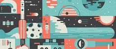 Universe Rocket Design Background Concept