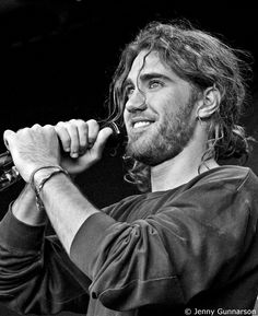 Matt Corby - I freaking love this picture because he looks really happy and ugh, I'm obsessed :(