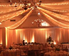 Lighted draping really adds the perfect glow to any event, especially a romantic wedding reception! Click the image for more information about Luma Designs! Photo credit: LumaDesigns.com