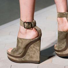 Shoespie Khaki Wedge Sandals
