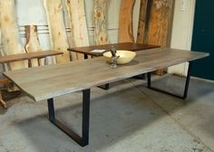 Live Edge Wisteria with Steel Legs Steel Table Legs, Dining Table Legs, Dining Room, Timber Table, Wooden Tables, Live Edge Table, Farmhouse Table, Handmade Wooden, Table Designs