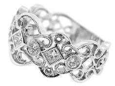 Ladies Rings :: Ladies Diamond Rings :: Diamond Ladies Ring in 18K White Gold (Style ID: 10573)