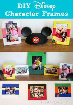 DIY Disney Character frames to display your Disney memories