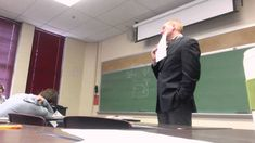 BEST CLASSROOM APRIL FOOLS PRANK EVER - A student in a macroeconomics class at Aquinas College in Grand Rapids, Mich., decided to play a pretty epic prank on professor Stephen Barrows for April Fools' last week. You see, the professor has a policy that if your phone rings during class, you have to answer it on speakerphone.