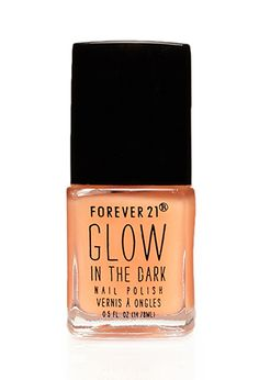 Neon Orange Glow in the Dark Nail Polish  When I used to hike in the mountains in unfamiliar terrain, I would leave florescent tape on the trees to mark my trail. This nail polish might help, if you get delayed when it is dark, and your rescuers might be able to spot you from affair by your glowing hands.