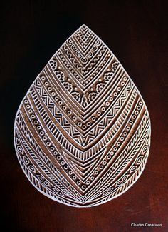Hand Carved Indian Wood Textile Stamp Block by charancreations, $75.00