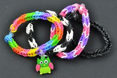 How to Create a Fishtail Loom Band Bracelet without a Loom!  #loombands #loom #diy #crafts