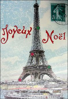 Find the Best French Christmas Cards Online. Joyeux Noel cards with Paris Eiffel Tower print and elegant envelope. Christmas In Paris, French Christmas, Noel Christmas, Little Christmas, Vintage Christmas, Christmas Cards, Xmas, Noel French, Christmas Travel