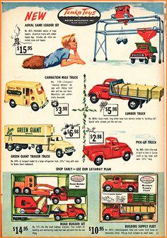 Vintage Toys Vintage 1955 1956 Toy O Rama Christmas Catalog Tonka Toys . Vintage Toys 1960s, 1960s Toys, Vintage Ads, Vintage Advertisements, Vintage Stuff, Christmas Catalogs, Christmas Toys, Vintage Christmas, Christmas Images