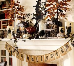Nothing welcomes October quite like a rustic jute banner ($30, potterybarn.com) complete with a creepy aged appearance.