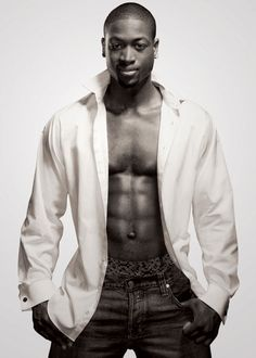 Dwayne Wade.... ummm why hasn't anyone ever shown me or told me who this lovely creature is?! Can I say yum?!