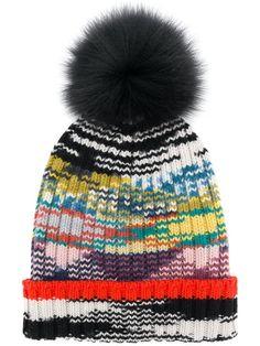 Shop Missoni cashmere pom pom hat. Fur Pom Pom Hat e1efc22ed0fc