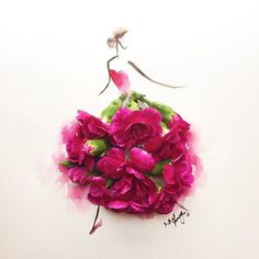 After women, flowers are the most lovely thing God has given the world.' - Christian Dior Happy 'Wonder' Women's Day to all of you! Just a quick do with these lovely magenta carnations. Tag someone whom you think is a wonderful lady as she is. #internationalwomensday #instaartmovement