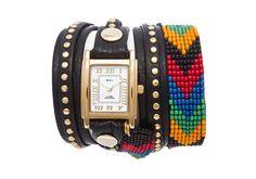 undefined Black Rainbow Guatemalan Wrap Watch
