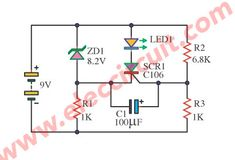 LED display low volt battery using SCR Electronics Basics, Electronics Projects, Electronic Kits, Arduino, Circuit, Corner, Display, Led, Blue Prints