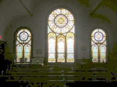 Stained Glass Window in Presbyterian Church in Worcester, New York by JuneNY, via Flickr