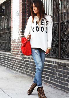 Sweater: ASOS  |  Jeans: random  |  Booties: Stuart Weitzman |   Bag: Zara