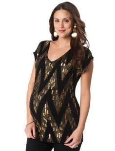 4b0d22b462e Motherhood Maternity: Short Sleeve V-neck Sequin Maternity T Shirt  Motherhood Maternity. $24.99