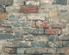 Faux Brick Wallpaper, Stone Wallpaper, Damask Wallpaper, Geometric Wallpaper, Brick Wallpaper On Ceiling, Adhesive Wallpaper, Wallpaper Shops, Peelable Wallpaper, Wallpaper Online