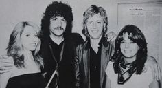 """takemetorhye:  """" From the right, Dominique, Roger, Carmine Appice and his ex-wife in 1981.  """""""