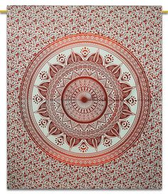Mandala Cotton Print Wall Hanging Tapestry Boho Full Size Bed Sheet Throw Decor 92' x 82' Inches -- You can find more details by visiting the image link. (This is an affiliate link) #Tapestries