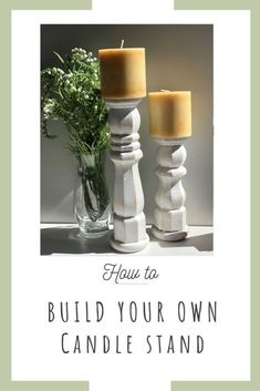 How to Make a Wood Candle Stand – Easiest DIY Scrap wood creations at its best! Step by step instructions #diyhomedecor #farmhousedecor  #farmhouse #budgetdecor #candlestand #diyfarmhouse