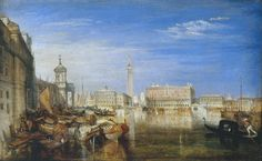 Bridge of Sighs, Ducal Palace and Custom-House, Venice: Canaletti Painting (exhibited 1833)