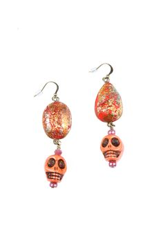 Shoptiques — Skull Stone Earrings