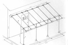 """Build a simple awning frame with Kee Klamp Fittings.       Parts you'll need                                                 10-6 - Single Socket Tee, 1""""                    ..."""