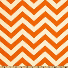 just like your pillow. Fabric by the Yard Mandarin ZigZag Chevron by MyFabricStudio, $10.00