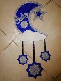 Eid Crafts, Ramadan Crafts, Ramadan Decorations, Diy Home Crafts, Paper Crafts, Diy For Kids, Crafts For Kids, Eid Stickers, Ramadan Activities