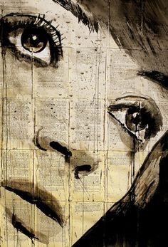 "Saatchi Online Artist: Loui Jover; Pen and Ink, Drawing ""moonbeams"""