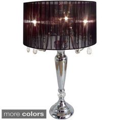 Shop for Elegant Designs Hanging Crystals Sheer Shade Table Lamp. Get free shipping at Overstock.com - Your Online Home Decor Outlet Store! Get 5% in rewards with Club O!