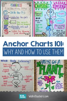 Anchor Charts Why and How to Use Them. Teachers are incorporating anchor ch… Anchor Charts Why and How to Use Them. Teachers are incorporating anchor charts into their teaching in all subject areas. But what exactly are they? And what are they good for? Science Anchor Charts, Kindergarten Anchor Charts, Reading Anchor Charts, Kindergarten Classroom, School Classroom, Classroom Ideas, Math Charts, Kindergarten Writing, Geek Culture