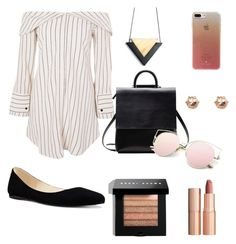 """""""Summer Outfit"""" by emelnik on Polyvore featuring Topshop, Charlotte Tilbury, Bobbi Brown Cosmetics, Nine West, Kate Spade and River Island"""
