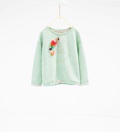 Floral crown sweatshirt