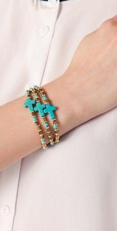 turquoise cross bracelets