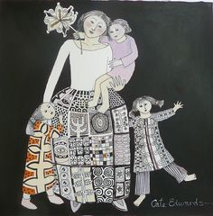 Mother and Girls by Cate Edwards