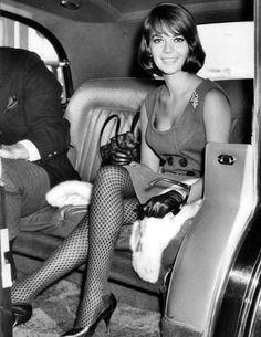 Natalie Wood arrives at London Airport. September, 1964