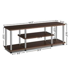 110 lbs Stainless Steel Listed TV Stand unit With Book Shelf Stainless Steel Listed Universal TV Stand 3 Tier Tv Stand, Open Shelving, Shelves, Universal Tv Stand, Glass Tv Stand, 110 Lbs, Smart Design, Particle Board, Tv Stands