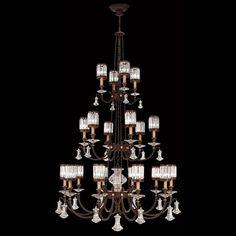 "Fine Art Lamps 584840 Eaton Place Twenty Light Crystal Chandelier | x | $40.154.96 retail, finish shown | 52""dia x 100""h | 20x 60w"